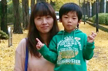 清水さん親子 写真